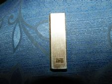 VINTAGE LIGHTER COLLIBRI MOLECTRIC TEXTURED GOLD TONE SLIM UNTESTED